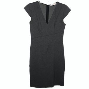 Rebecca Taylor | gray wrap style A line dress